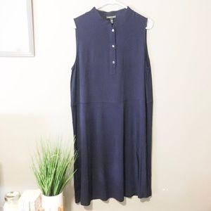 ✨Eileen Fisher Navy Sleeveless Shift A-Line Dress